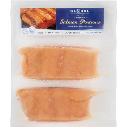 SALMON PORTIONS TWIN PACK 250GM