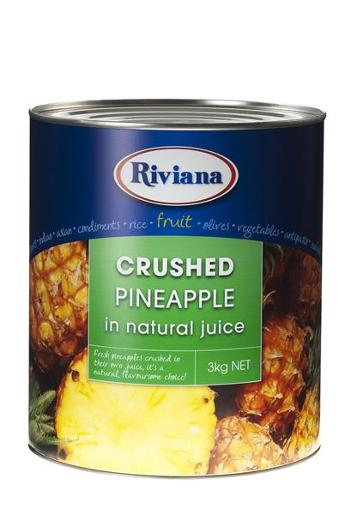 CRUSHED PINEAPPLE IN NATURAL JUICE 3KG