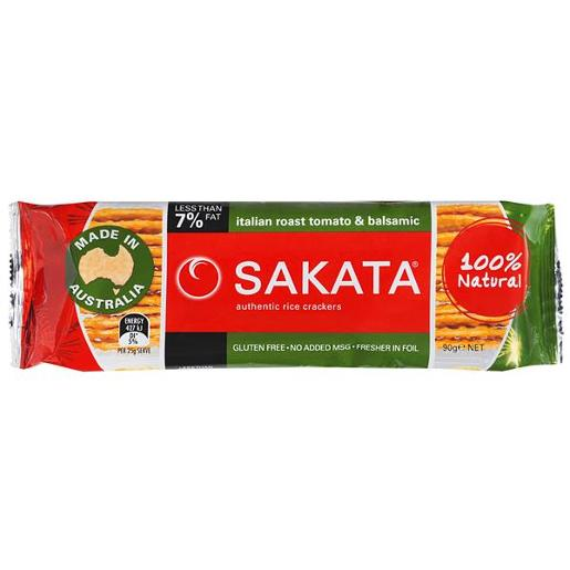 TOMATO AND BASIL RICE SNACKS 90GM