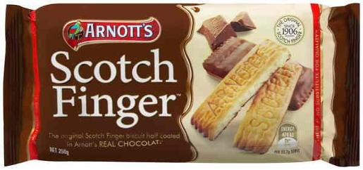 BISCUITS CHOCOLATE SCOTCH FINGER 250GM
