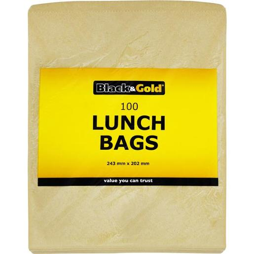 LUNCH BAGS PAPER 243MM X 22MM 100S