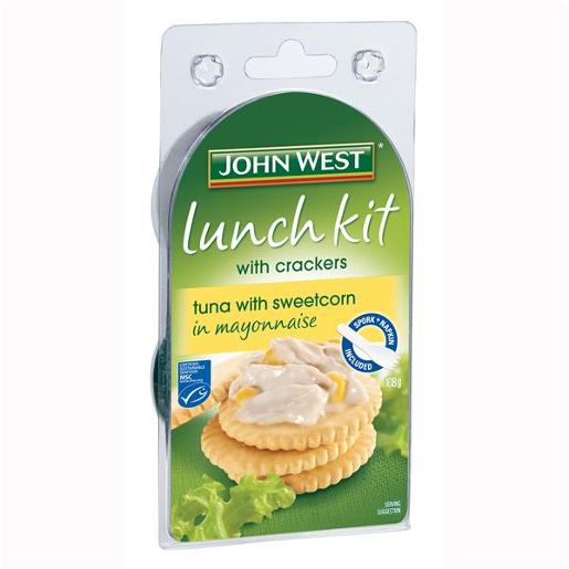 TUNA IN MAYONAISE & CORN LUNCH KIT 108GM