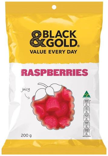 RASPBERRIES 200GM
