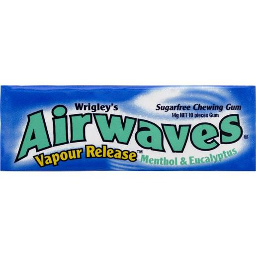 AIRWAVES MENTHOL EUCALYPTUS SINGLE 14GM