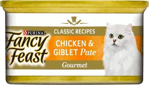 FANCY FEAST CHUNKY CHICKEN GIBLETS PATE 85G