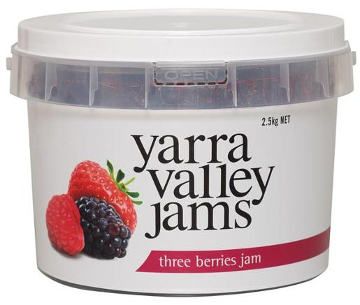 THREE BERRY JAM 2.5KG