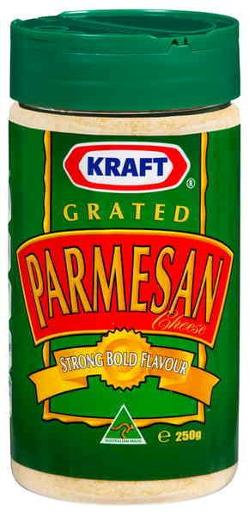 CHEESE PARMESAN GRATED 250GM