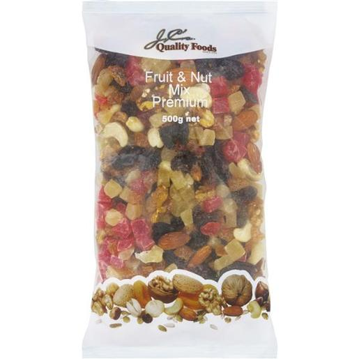 QUALITY FOOD FRUIT AND NUT MIX 500GM
