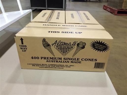 ICECREAM SINGLE CONES 400 PACK 400S