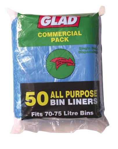 BLUE ALL PURPOSE BIN LINER 75L 50S