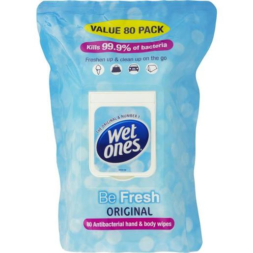 BE FRESH ANTIBACTERIAL HAND & BODY WIPES 80S