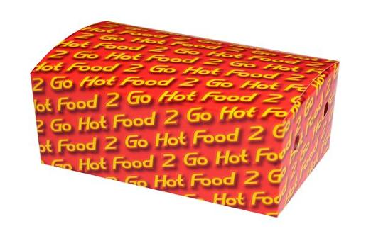 HOT FOOD 2 GO MEDIUM CARDBOARD SNACK CONTAINER 50S