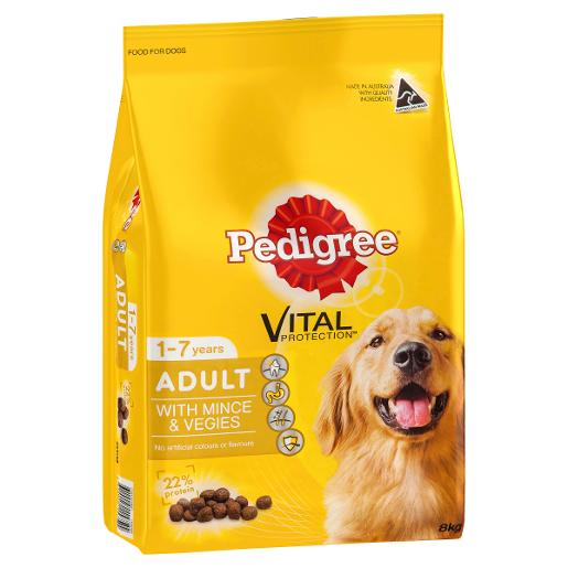 MEATY BITES MINCE AND VEGETABLE DOG FOOD 8KG