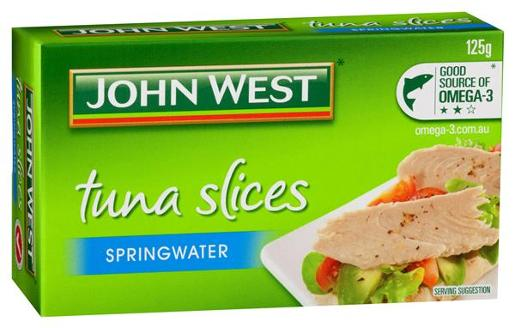 TUNA TEMPTERS SLICES IN SPRINGWATER 125G