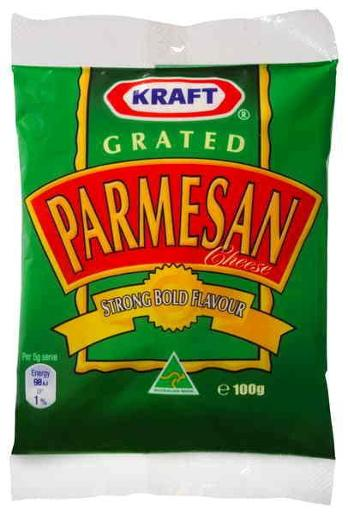 CHEESE PARMESAN GRATED 100GM