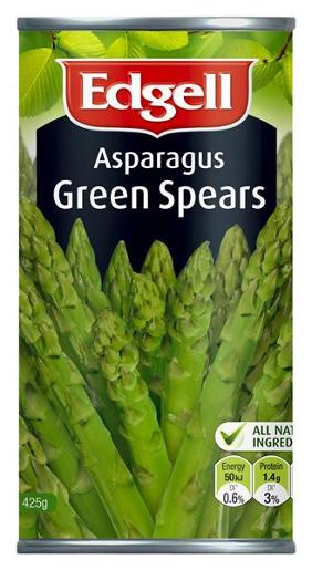 ASPARAGUS GREEN SPEARS 425GM