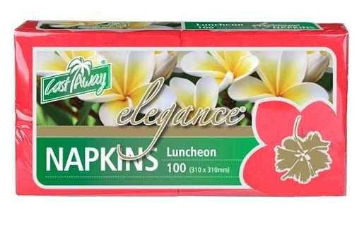 ELEGENCE RED LUNCHEON NAPKIN 100S