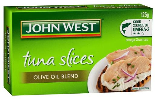 TUNA TEMPTERS SLICES IN OLIVE OIL 125GM