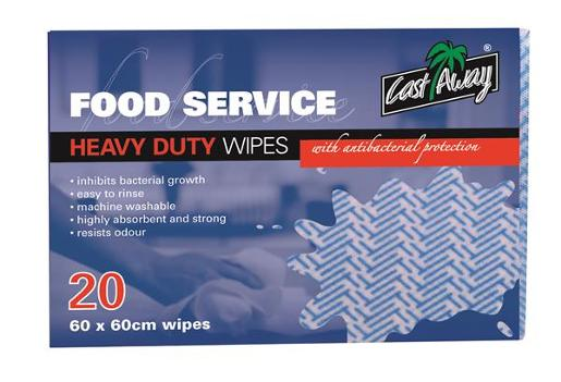 WIPES HEAVY DUTY BLUE 60CM X 60CM 20S