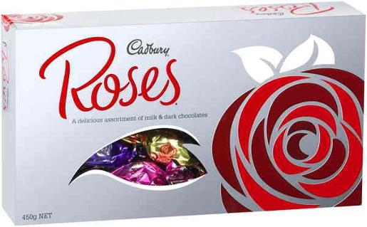 SILVER ROSES BOX 450GM