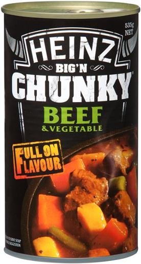 SOUP CHUNKY BEEF AND VEGETABLE 535G