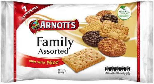 BISCUITS FAMILY ASSORTED 500GM