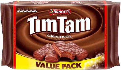 BISCUITS CHOCOLATE TIM TAM VALUE PACK 330GM