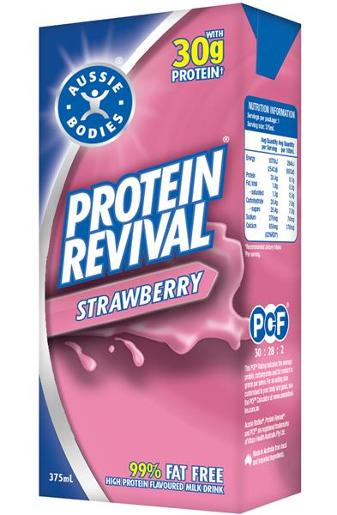 STRAWBERRY PROTEIN REVIVAL DRINK 375ML