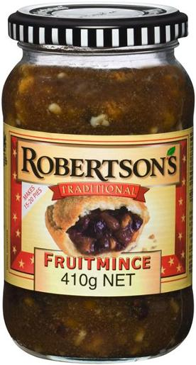 ROBERTSON FRUIT MINCE 410GM