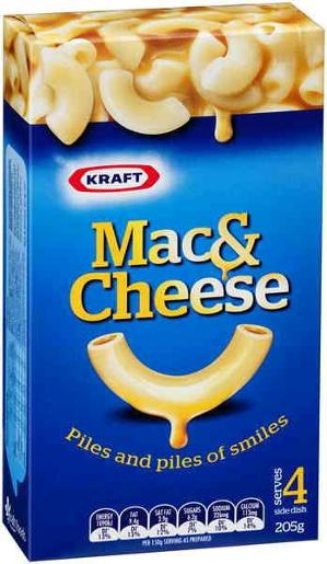 DINNER MACARONI AND CHEESE 205GM