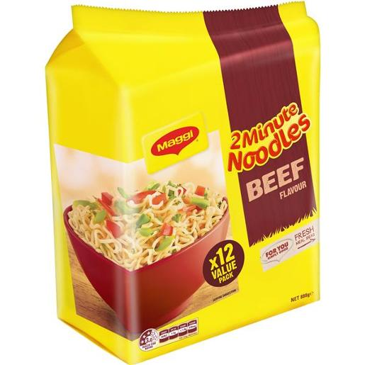 BEEF NOODLE 2 MINUTE 12X74GM