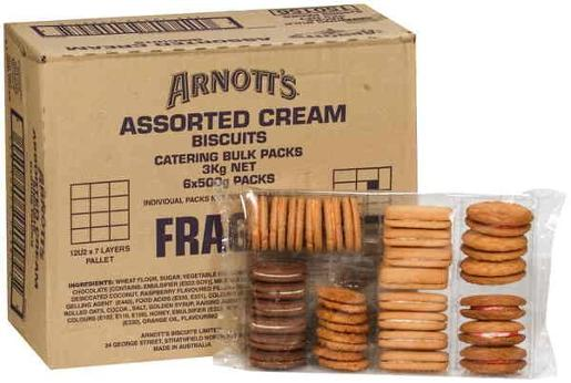 BISCUITS ASSORTED CREAMS BULK 3KG