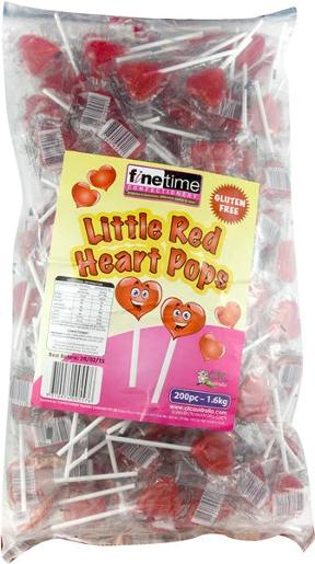 SMALL RED CHOCOLATE HEARTS 200S