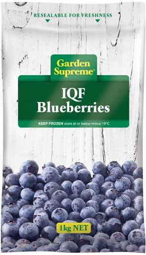 BLUEBERRIES INDIVIDUALLY QUICK FROZEN 1KG