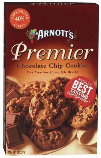 BISCUITS PREMIUM CHOCOLATE CHIP COOKIES 310GM