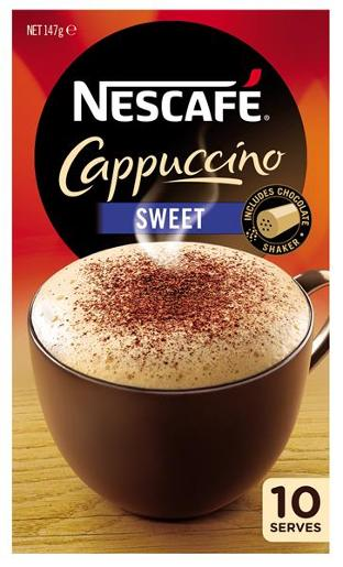 SWEET CAPPUCCINO COFFEE 10PK
