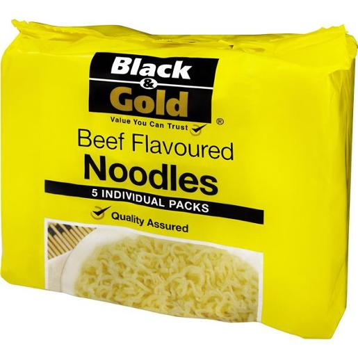 NOODLES BEEF FLAVOURED 5 PACK 85GM