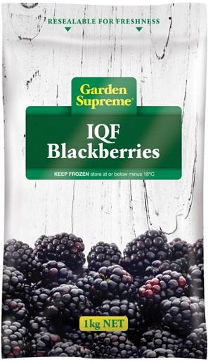 BLACKBERRIES INDIVIDUALLY QUICK FROZEN 1KG