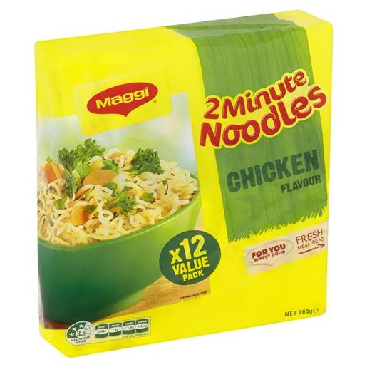 CHICKEN NOODLE 2 MINUTE 12X72GM