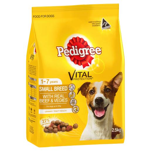 MEATY BITES MINI BEEF AND VEGETABLE DOG FOOD 2.5KG