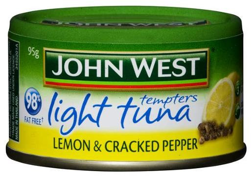 TUNA TEMPTERS LIGHT LEMON AND CRACKED PEPPER 95GM