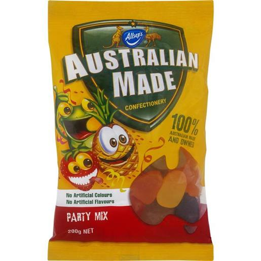 AUSTRALIAN MADE PARTY MIX 200GM