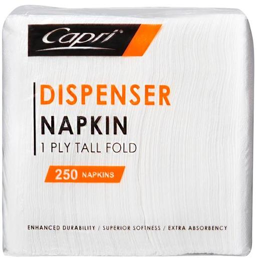 NAPKIN DISPENSER WHITE 1PLY 1EA