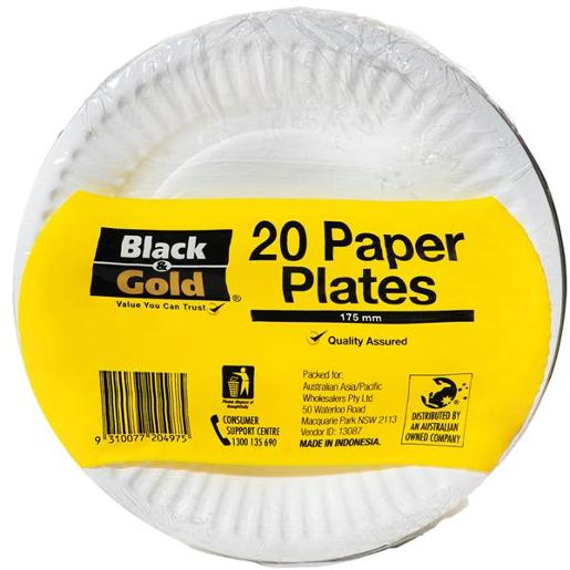 PAPER PLATES 175MM 20S