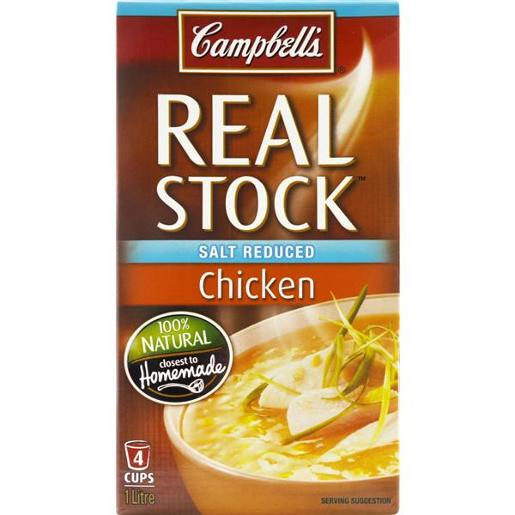 REAL STOCK CHICKEN SALT REDUCED 1L