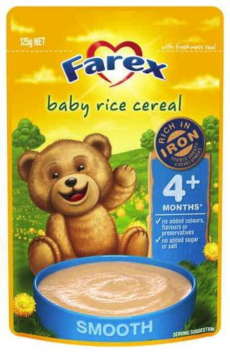 BABY RICE CEREAL 4 MONTHS PLUS 125GM