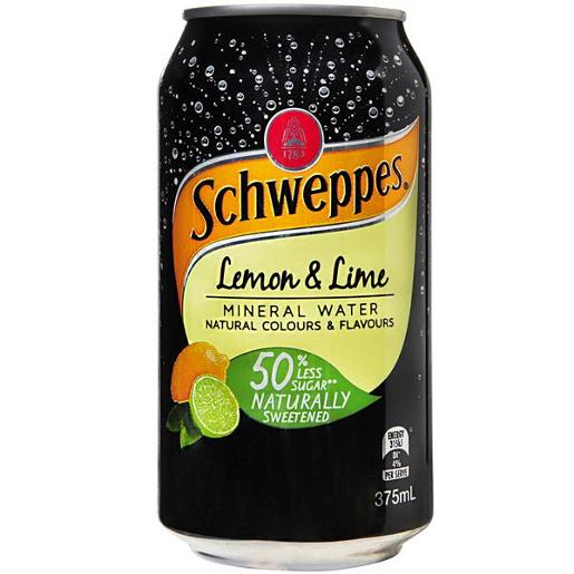 LEMON AND LIME MINERAL WATER 375ML