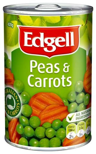 PEAS & CARROTS 420GM