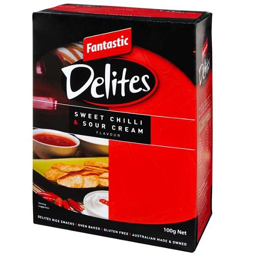 DELITES SWEET CHILLI AND SOUR CREAM 100GM