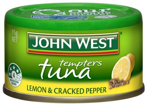 TUNA TEMPTERS LEMON AND CRACKED PEPPER 95GM